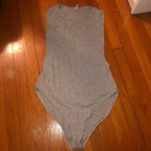 Gray Urban Outfitters Tank Top Bodysuit